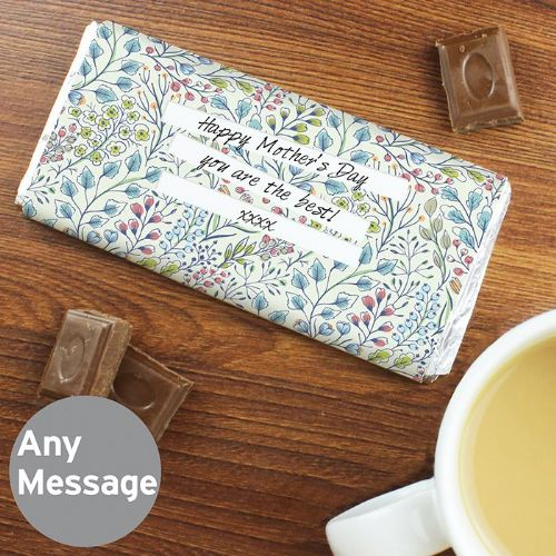 Personalised Botanical Chocolate Bar